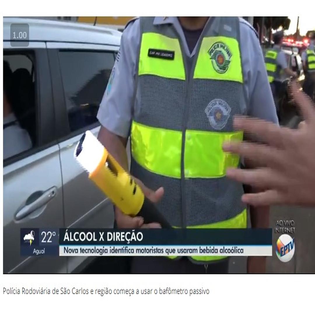 Bafômetro passivo começa a ser usado pela Polícia Rodoviária de São Carlos e região-Bafômetro passivo começa a ser usado pela Polícia Rodoviária de São Carlos e região