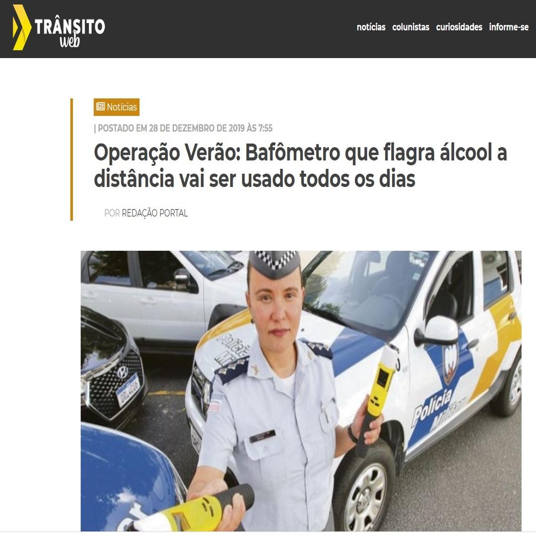 bafometro passivo policia militar espirito santo-Operação Verão: Bafômetro que flagra álcool a distância vai ser usado todos os dias